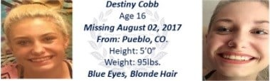 Missing 16-year-old teen from Pueblo.