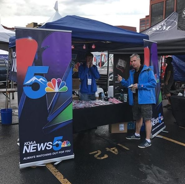 Our KOAA News 5 tent in downtown Colorado Springs for the Colorado Classic. (KOAA)