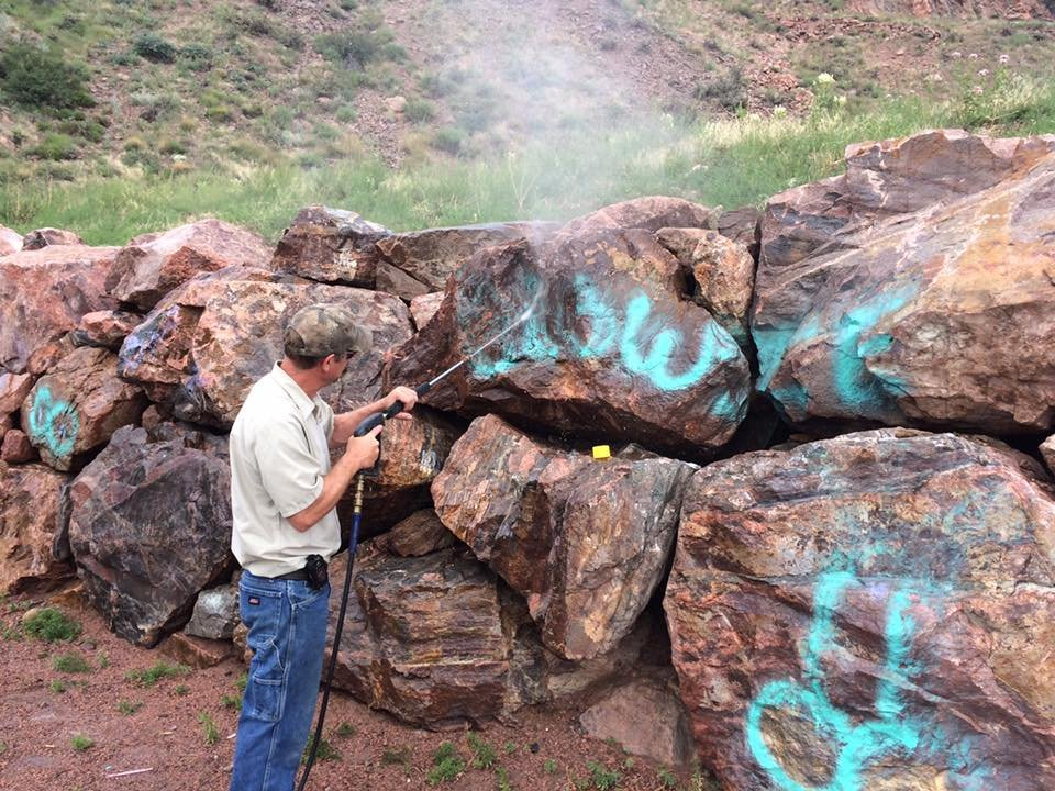 Police asking for tips in Tunnel Drive Trailhead vandalism.