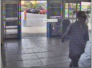 Pueblo Police searching for suspect in auto and identity theft cases.