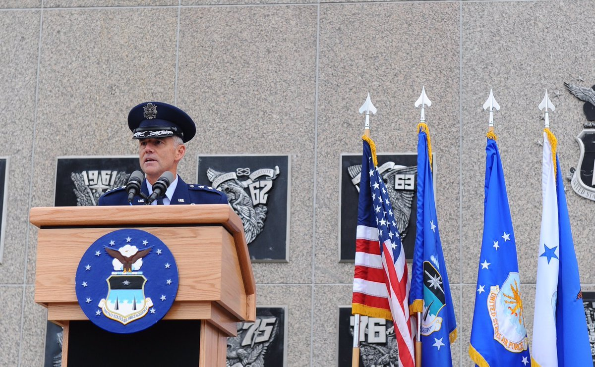 Maj. Gen. Jay B. Silveria succeeded Lt. Gen. Michelle Johnson in a ceremony Friday.