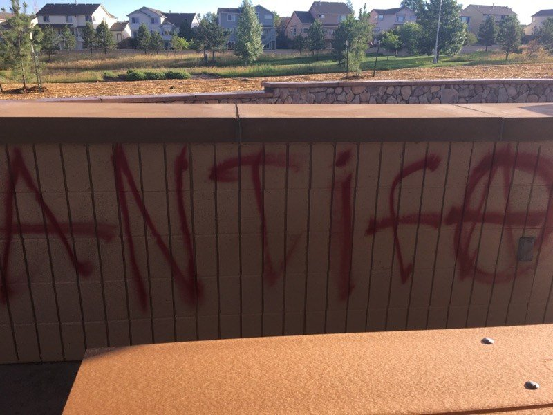 An example of graffiti at John Venezia Park in Briargate