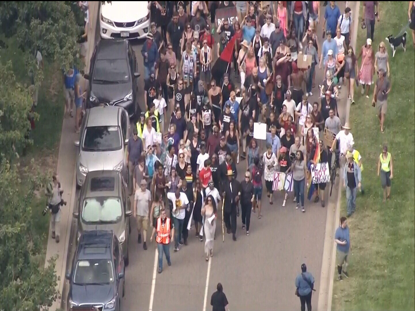 Hundreds marched in Denver to protest white supremacists.