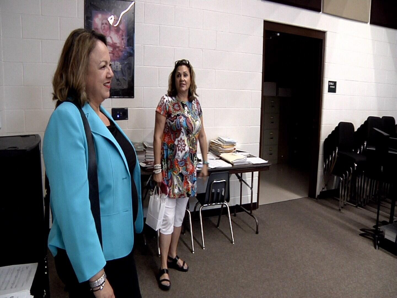 Ambassador Claudia de Cento of El Salvador visit the choir at Pueblo County High School
