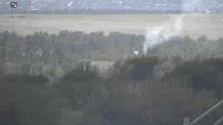 A small fire along the Santa Fe Trail near the Air Force Academy. (CDOT)