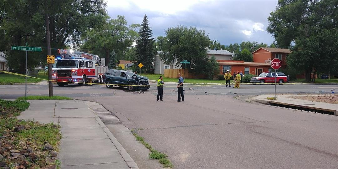 CSFD responds to serious crash at Willamette and Swope Ave. in Colorado Springs.