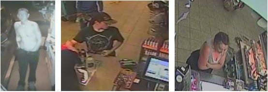 Three suspects wanted in Pueblo identity theft case.