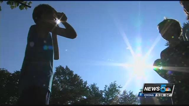 Here in southern Colorado there is no amount of time during today's eclipse when it's safe to look at without eclipse glasses says Dr. Richard Davidson.
