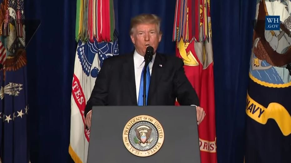President Donald Trump addresses the nation with his strategy for Afghanistan. (YouTube)