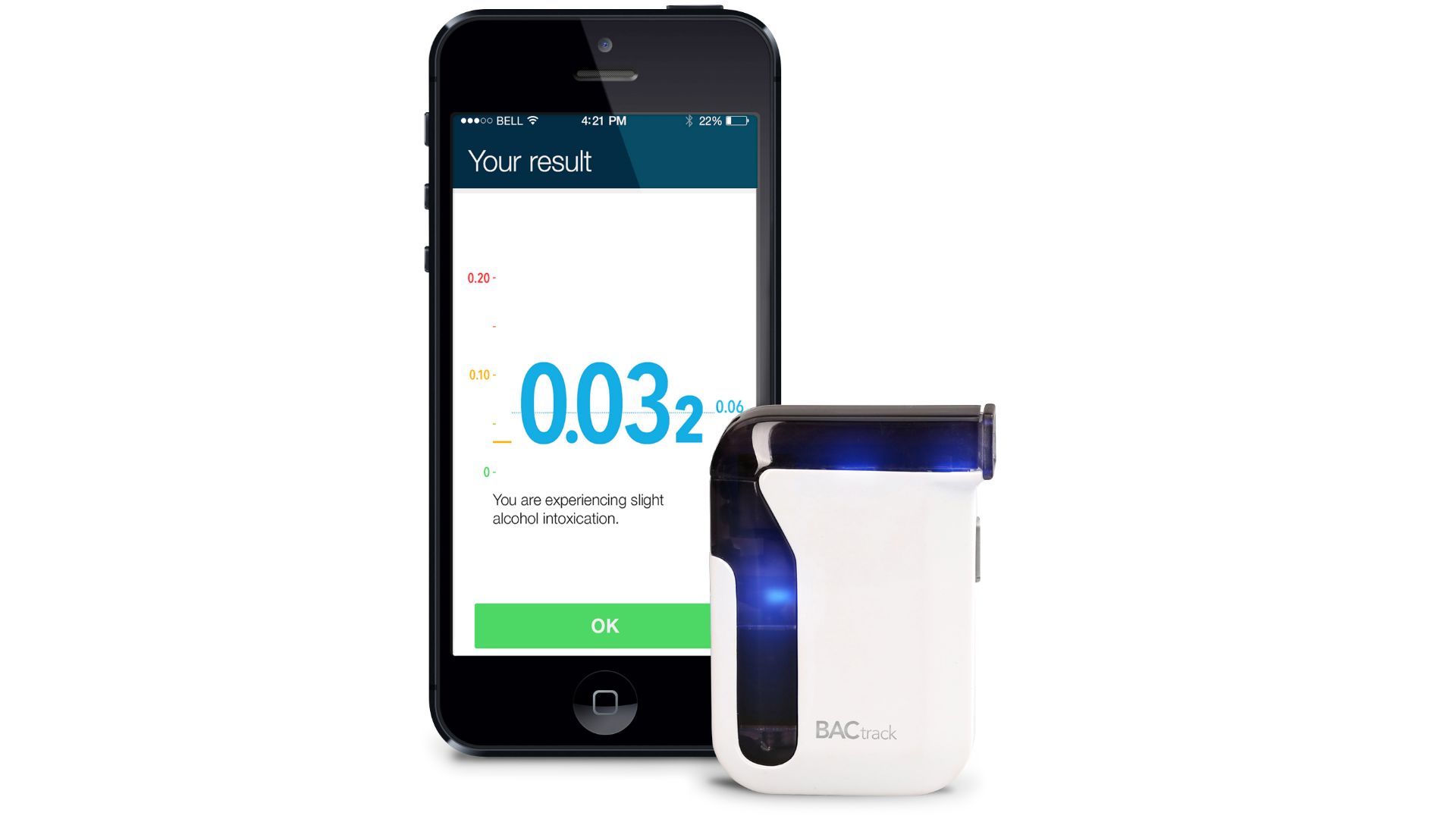 The BACtrack smartphone breathalyzer.