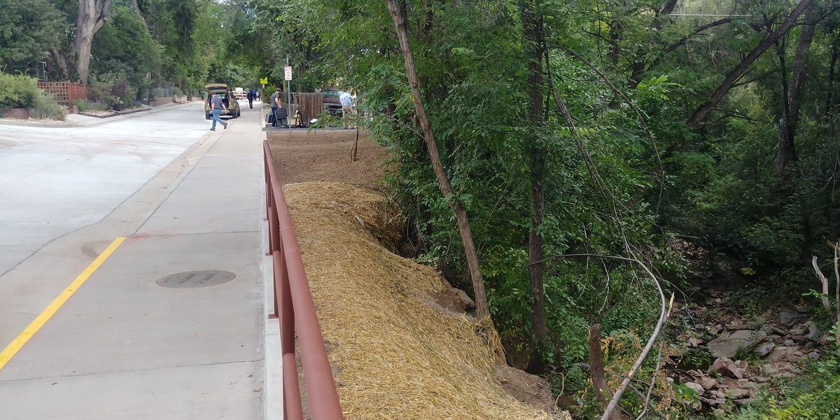 Stormwater project is completed in Colorado Springs near Taylor Elementary School.