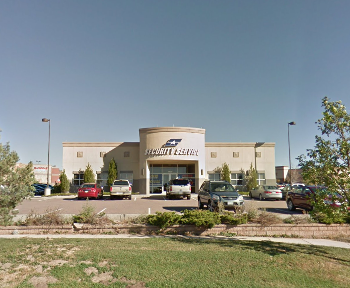 Security Service Federal Credit Union reported a robbery Saturday at 5820 Barnes Rd.