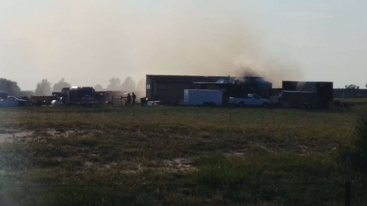 Active structure fire to modular home in Peyton earlier Saturday