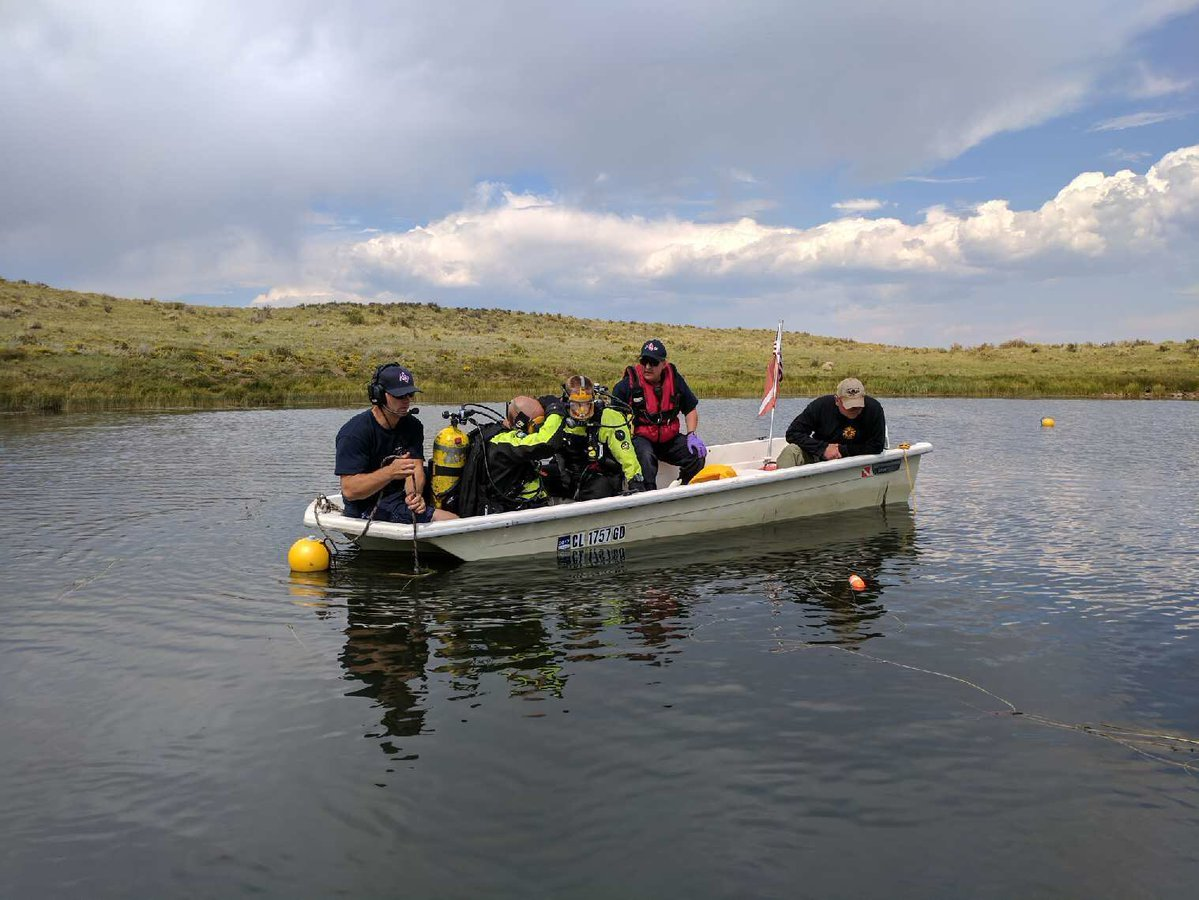 CSFD divers search for 20-year-old Weldon Rusher and his brother 28-year-old Benjamin Rusher in Custer County on Sept. 4, 2017.