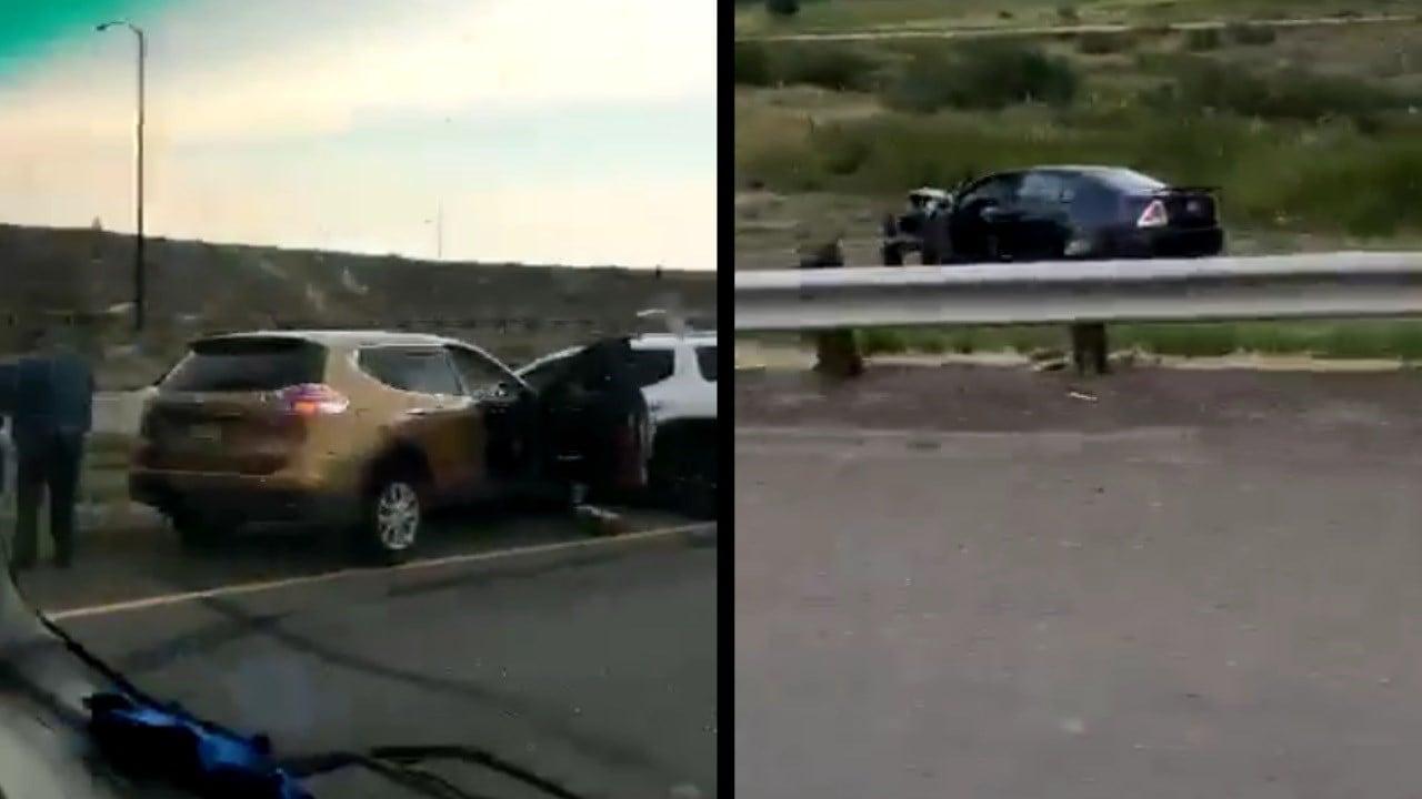 A multi-car crash closed traffic north of Pueblo on I-25. (Justin Miller)