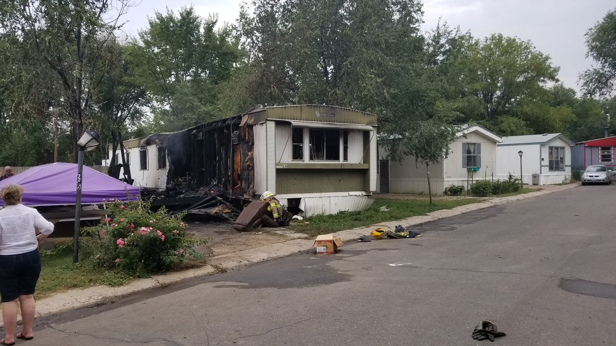 Trailer damage due to structure fire in Florence