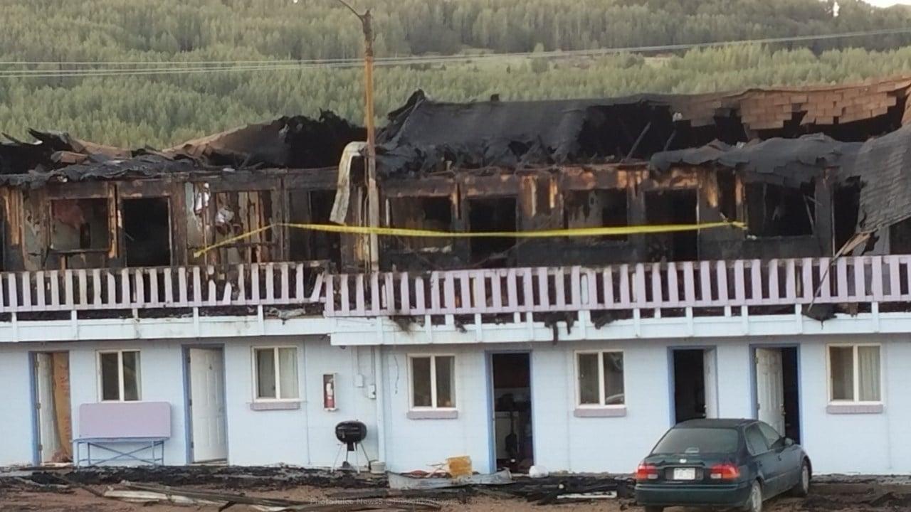 An overnight fire at the Cripple Creek Motel injured three on Sept 12, 2017. (KOAA)