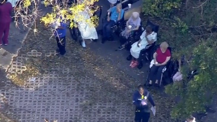 Patients are evacuated from a nursing home facility in Florida. (NBC News)