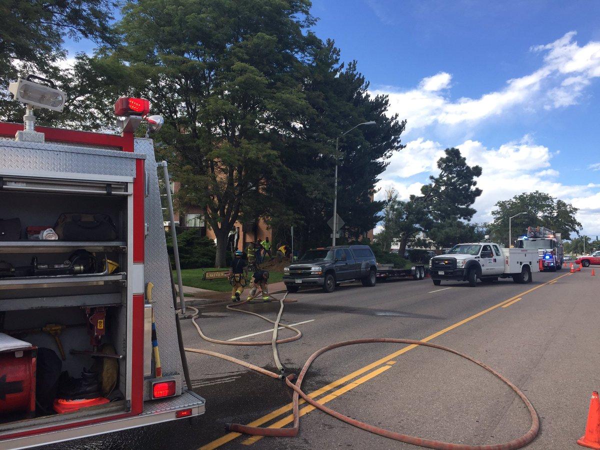 Crews responding to gas line break at 610 S. Union.