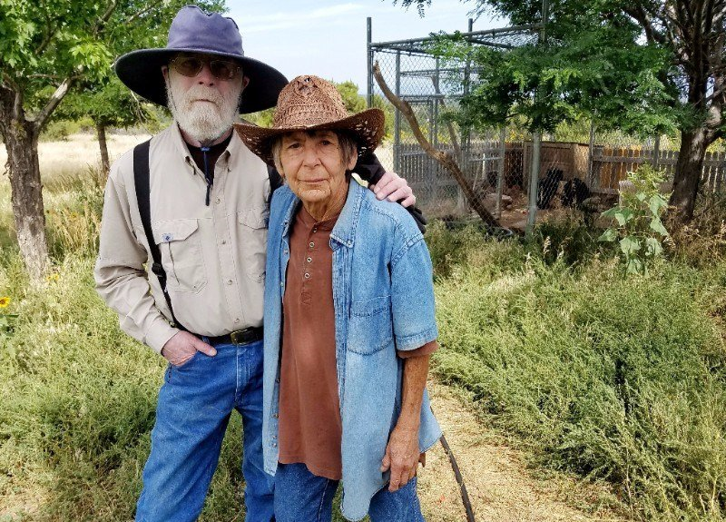 "Tom and Cecelia ""Cec"" Sanders at their Wet Mountain Wildlife Rehabilitation sanctuary near Wetmore."