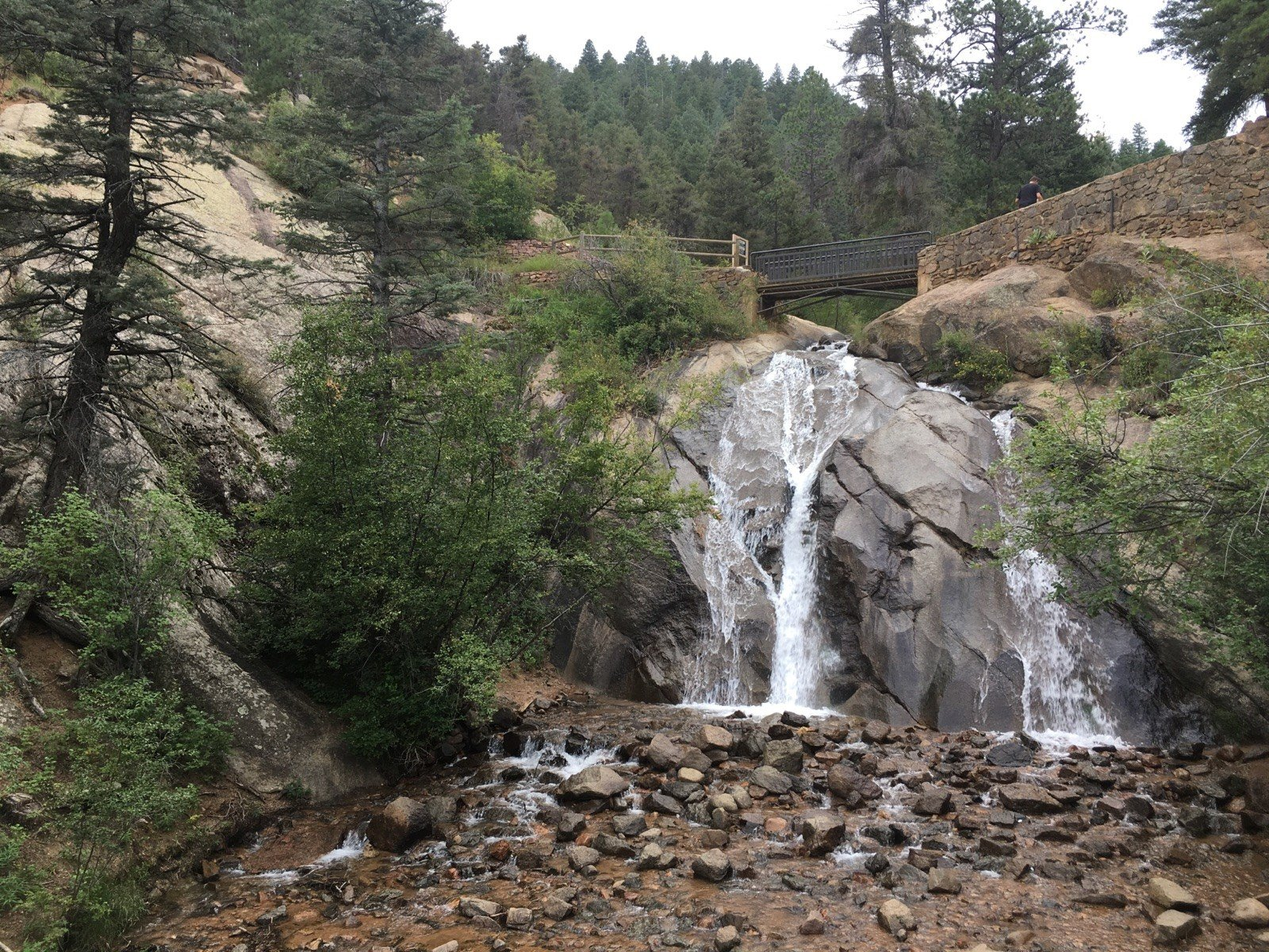 Helen Hunt falls at North Cheyenne Canon Park in Colorado Springs.