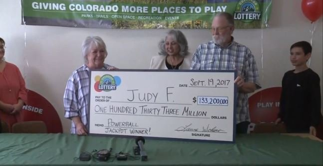 Judy Finchum came forward Tuesday to claim her check for $133 million