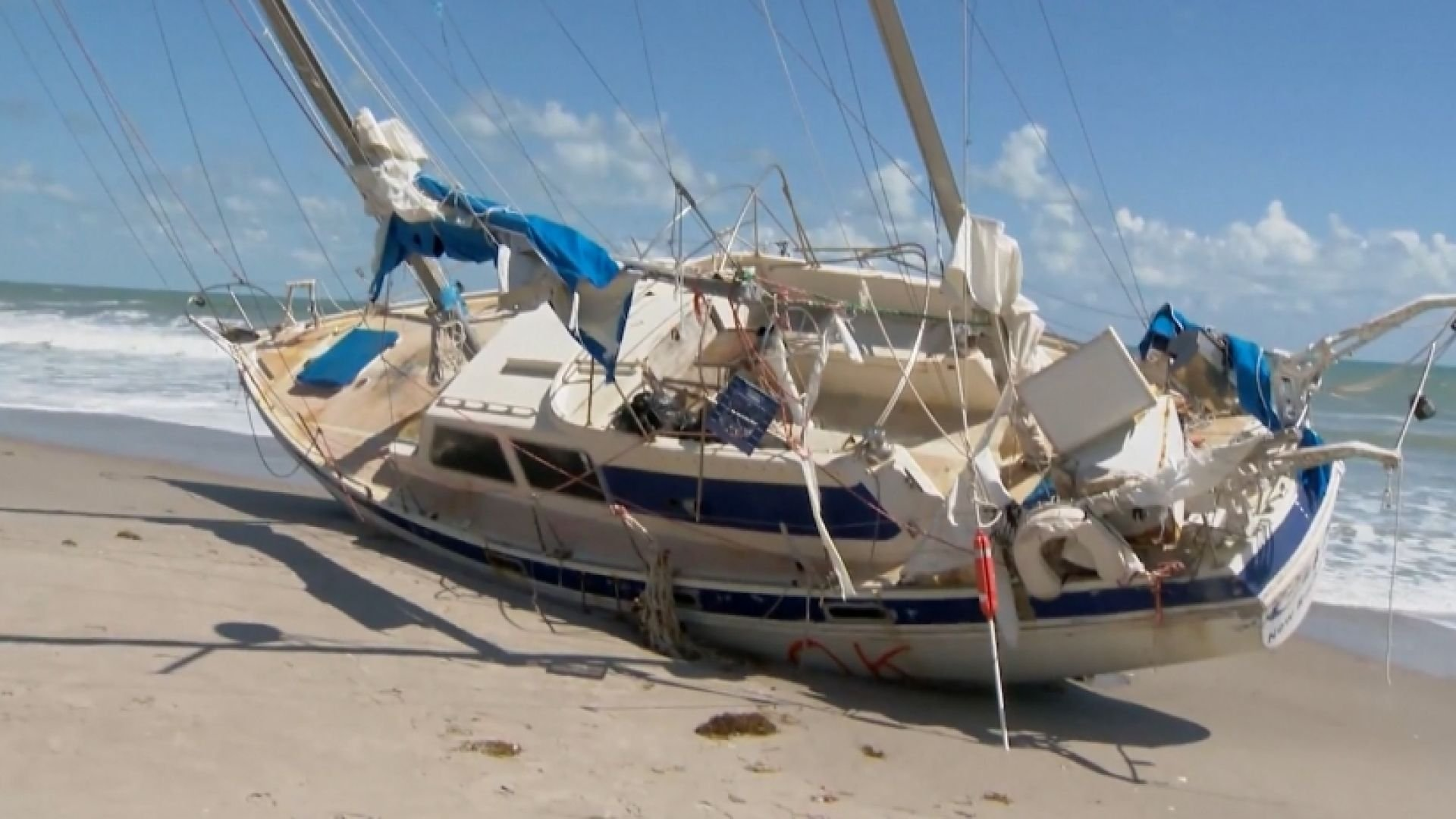 Ship blown hundreds of miles by Hurricane Irma