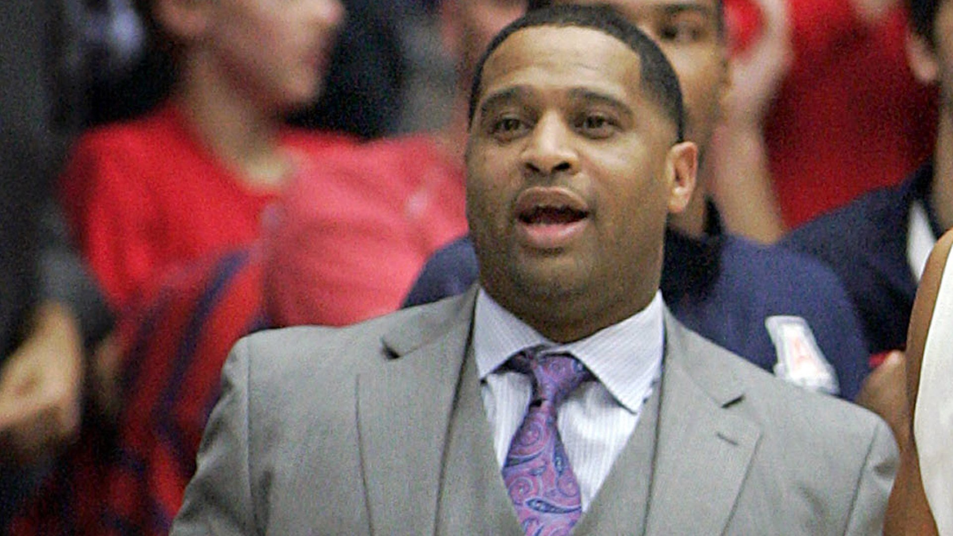 Arizona assistant coach Emmanuel Richardson was identified in court papers, and is among 10 people facing federal charges in Manhattan federal court, Tuesday, Sept. 26, 2017, in a wide probe of fraud and corruption in the NCAA, authorities said.