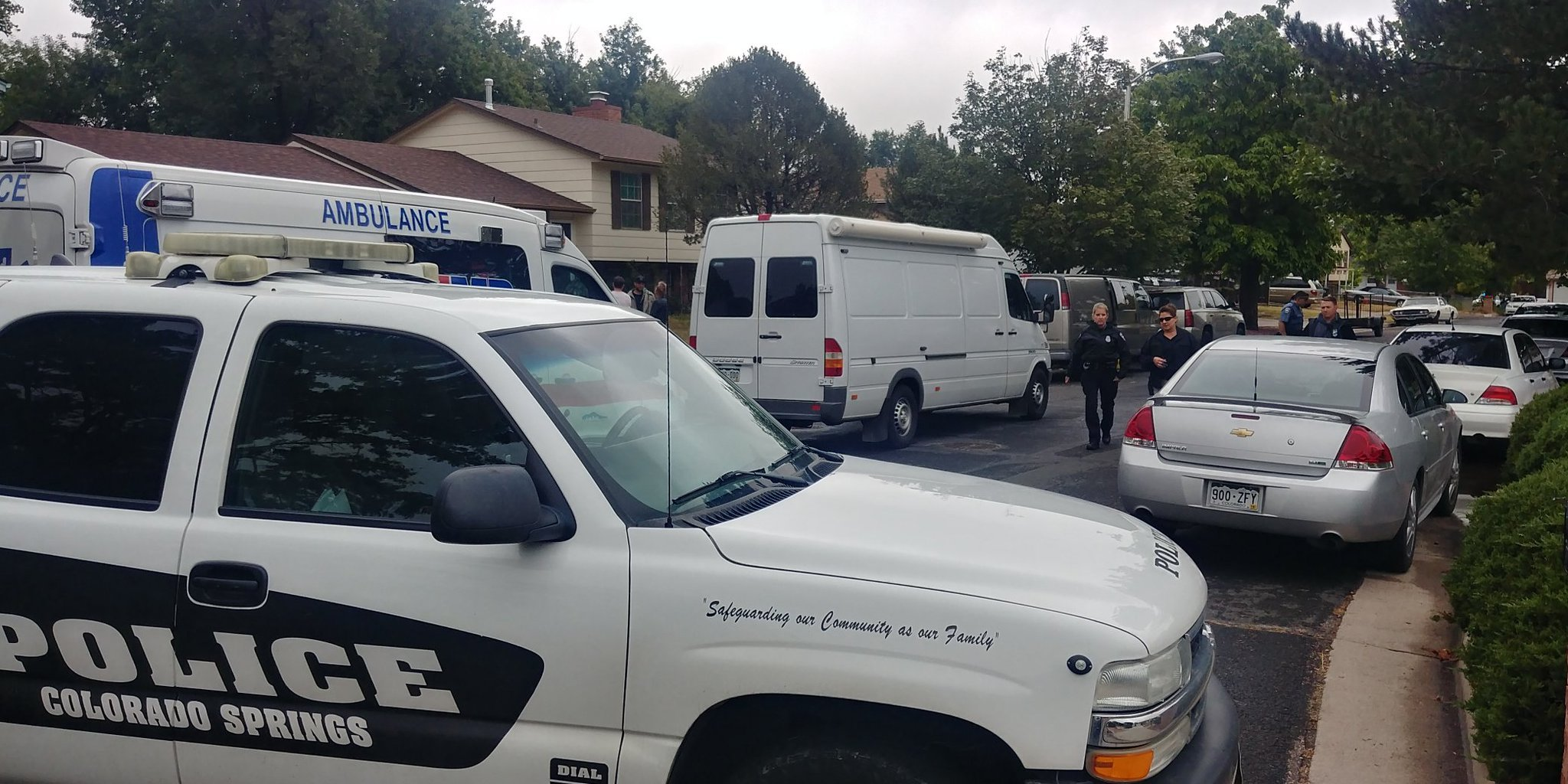 Colorado Springs SWAT and other agencies on scene while trying to serve a warrant near Melville Dri. (KOAA)