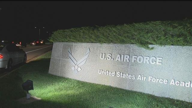 The US Air Force Academy under a shelter in place order due to an active shooter alert on Sept. 29, 2017. (KOAA)