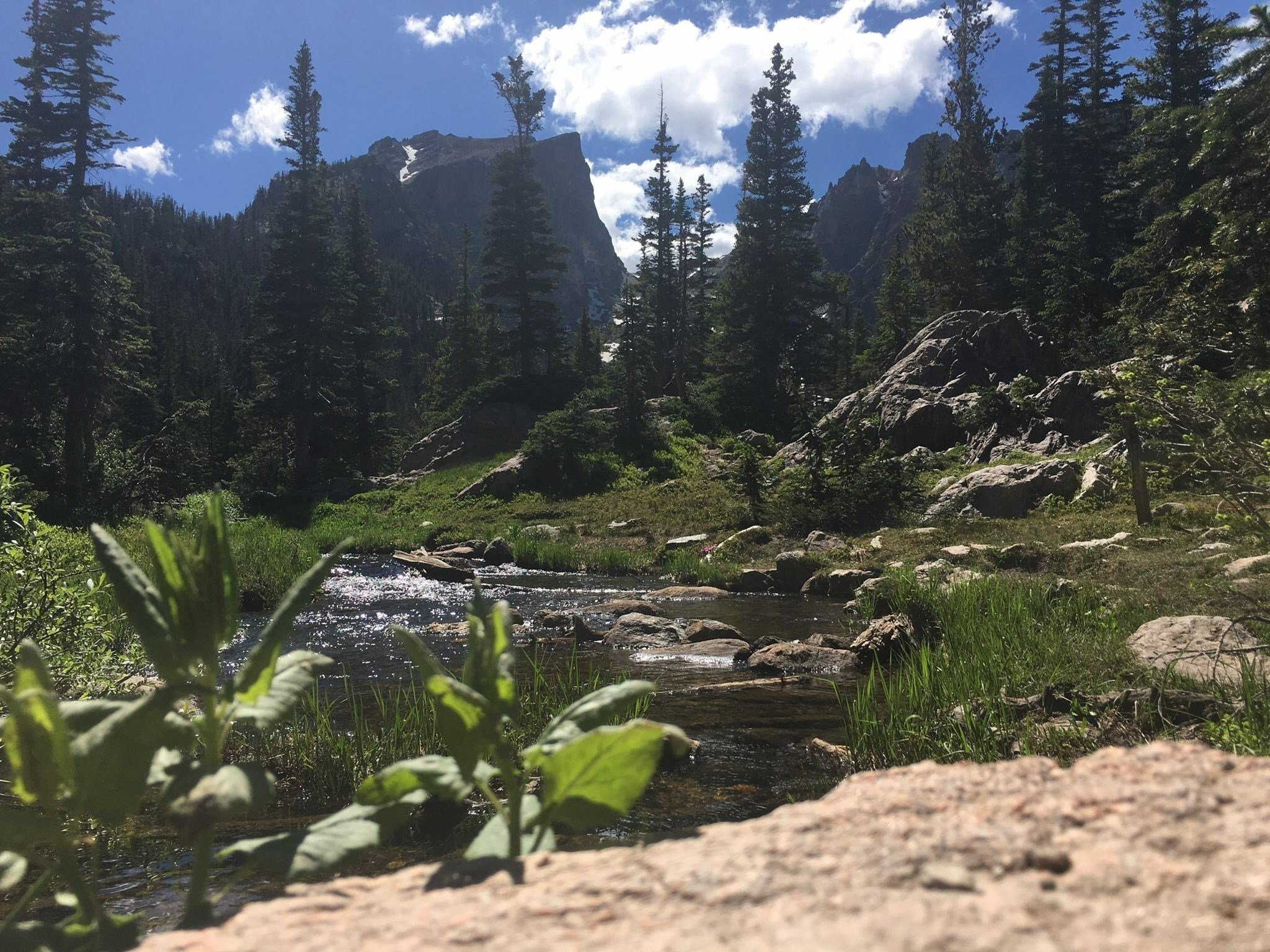 Dream lake at Rocky Mountain National Park during the summer of 2016.