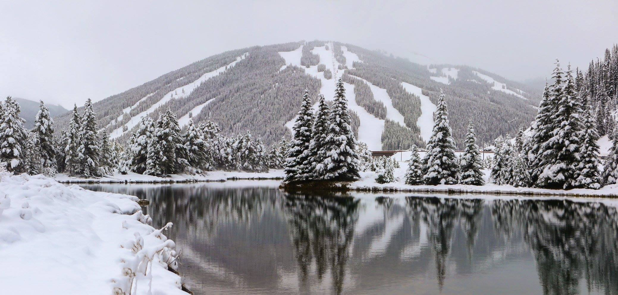 Snow fell on Copper Mountain Resort on Oct. 2, 2017.