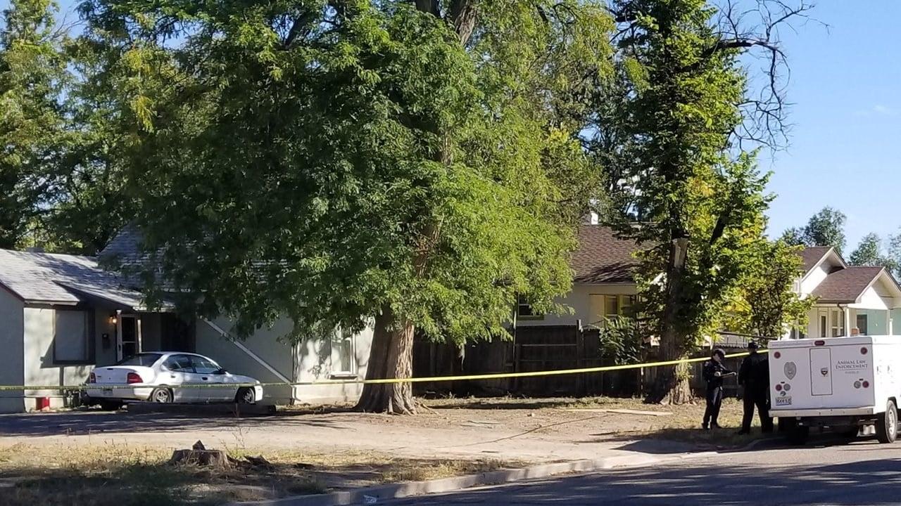 Pueblo PD detectives on scene of a death near 13th and Van Buren. (KOAA)