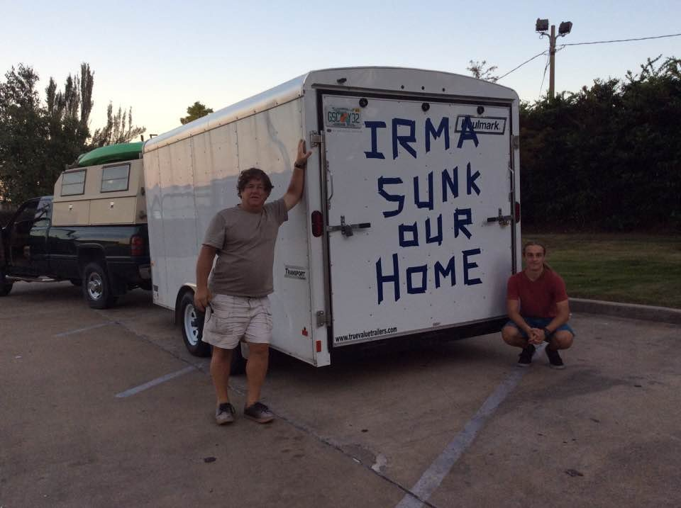 Bill and Sebastian Mackleer are now living in Colorado after seeking refuge from Hurricane Irma