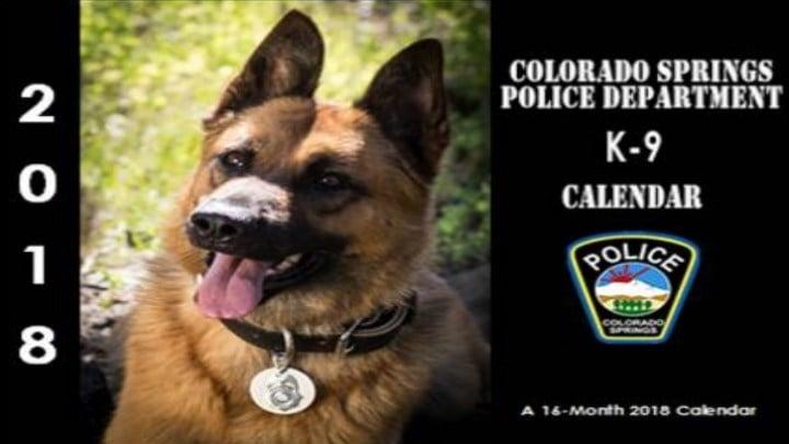 Colorado Springs PD is selling a K9 Calendar to benefit the Cadet Explorer program.