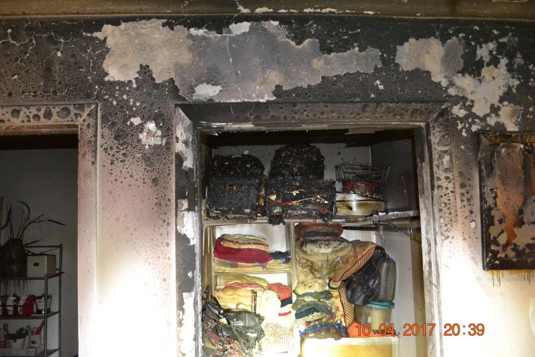 Fire damage at the Avalon Valley Apartments in Colorado Springs.