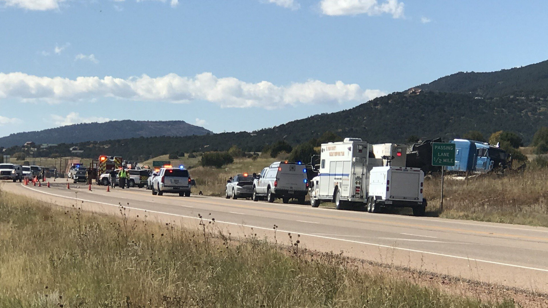 Colorado State Patrol investigates fatal crash on Highway 115. (KOAA)