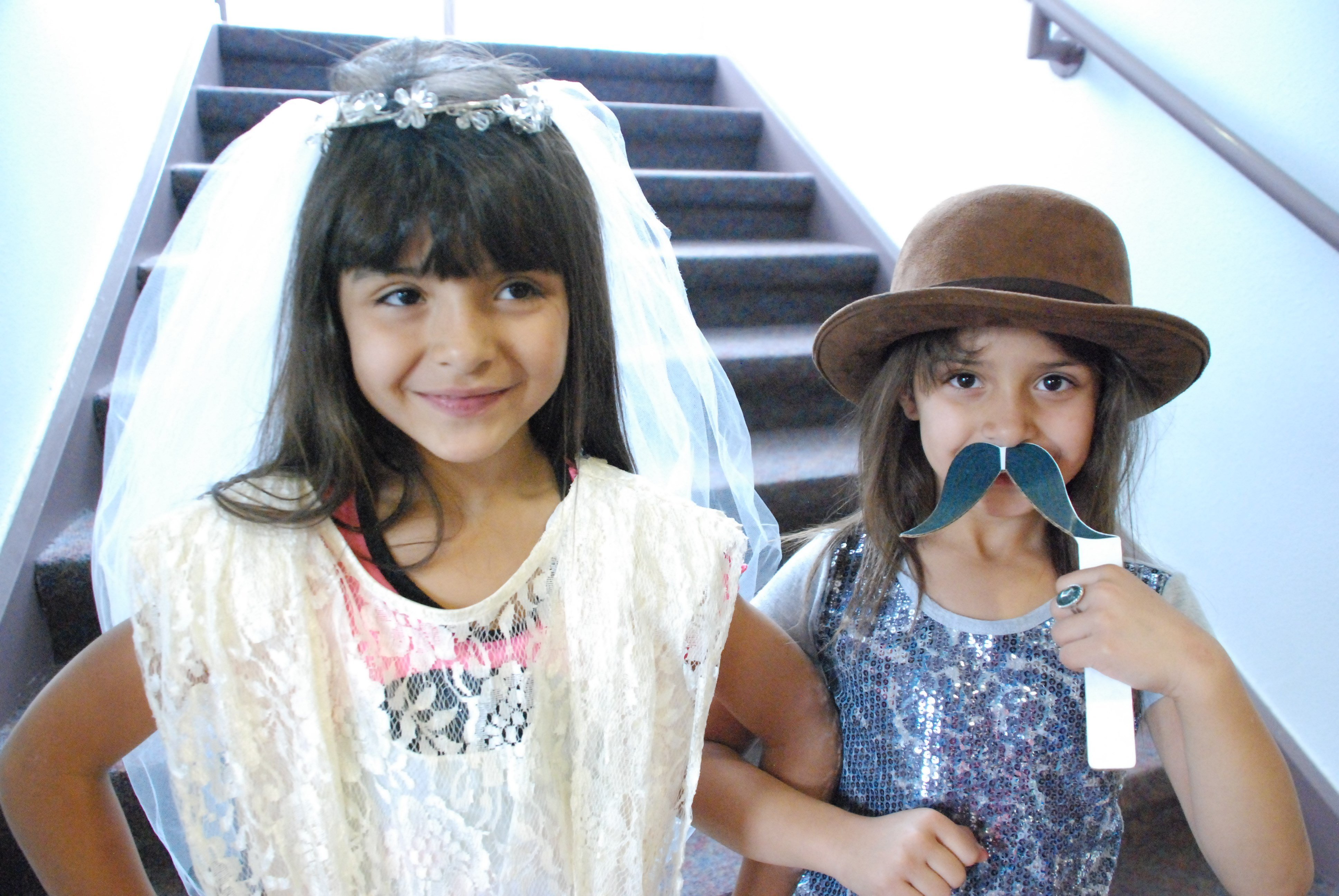 Ariana and Riana Tafoya taking part in Puebloween event.