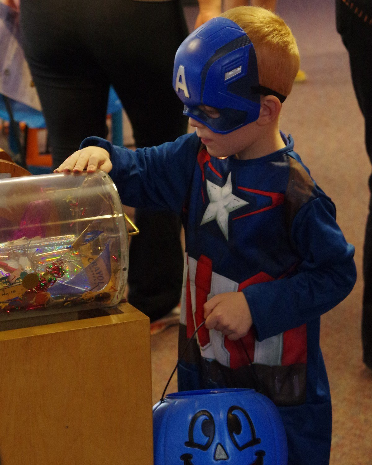 Trick-or-treating and other activities at Puebloween event.