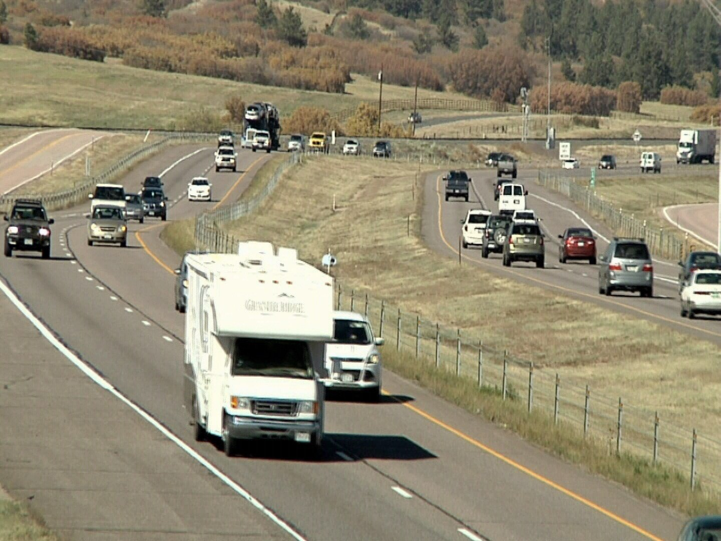 """Interstate 25 narrows to 4 lanes between Monument and Castle Rock for a 17 mile """"gap"""" that is often congested and a frequent site for serious crashes."""