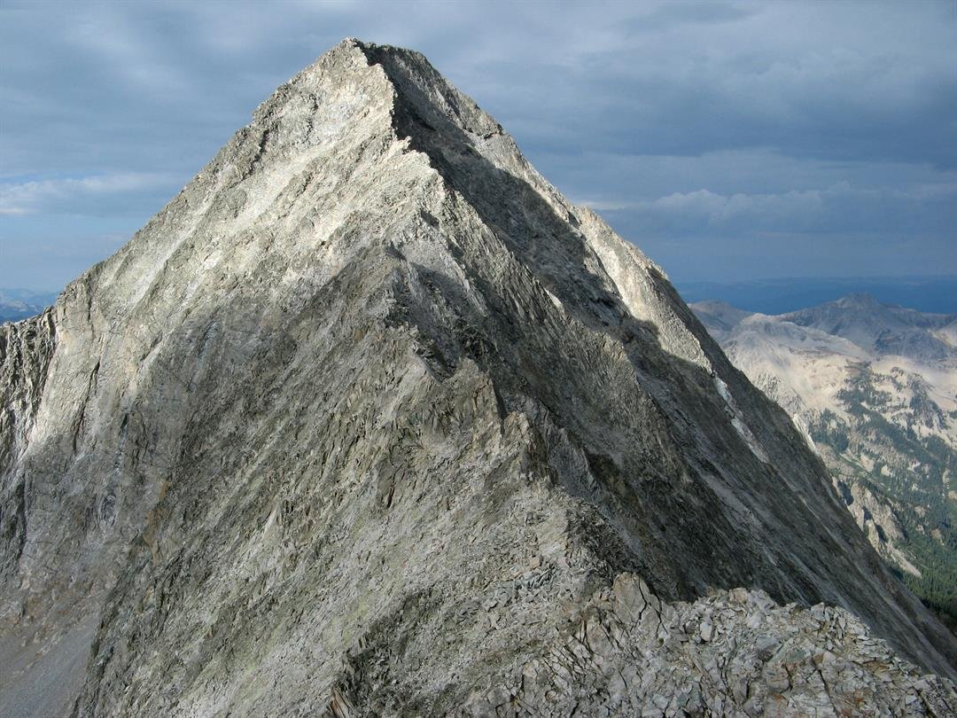 The northeast ridge of Capitol Peak, one of the most dangerous fourteeners in Colorado.