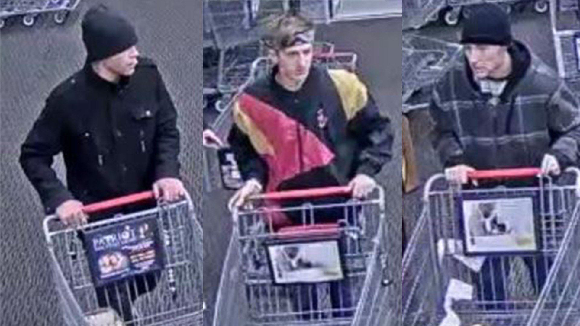 El Paso County Sheriff's deputies are looking for three men who they say stole $1,600 in groceries from a King Soopers store off Constitution Ave.