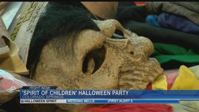 Kids at UCHealth Memorial are getting their trick-or-treat on.