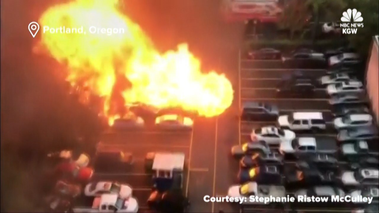 A food truck exploded in downtown Portland on Oct. 18, 2017.