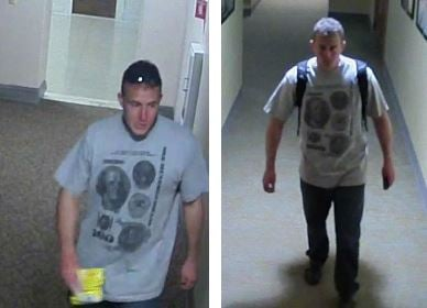 Police are looking for this man, who's wanted in connection to a burglary at the Pueblo City Hall on Oct. 16.