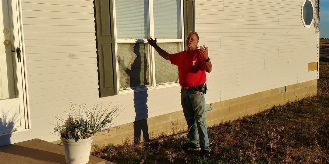 Brian Helm concerned about money he paid for home repair, but work was never completed.