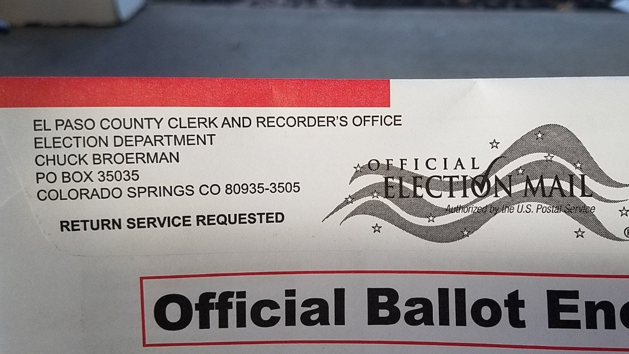 Ballots for El Paso County election were mailed October 16th.