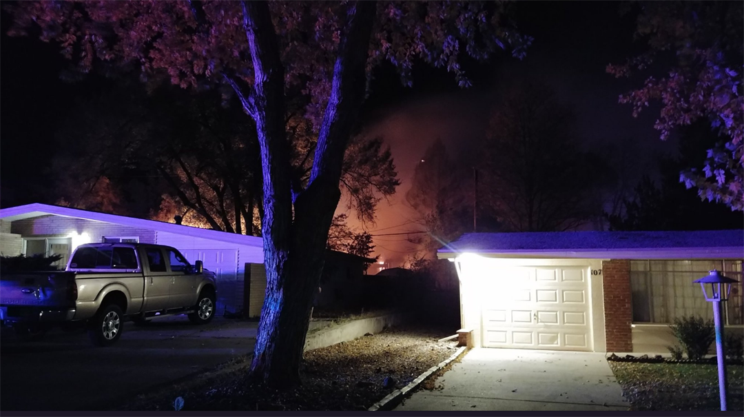 Fire burning in Security-Widefield area