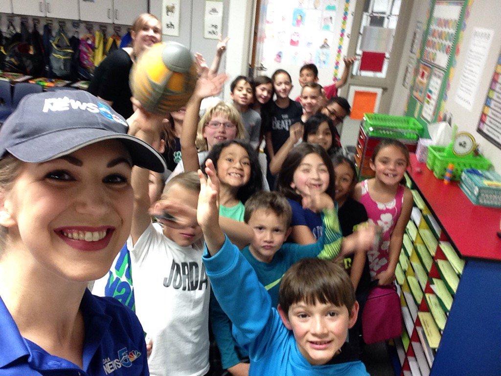 First Alert 5 Meteorologist visits second graders at Webster Elementary School in Widefield.
