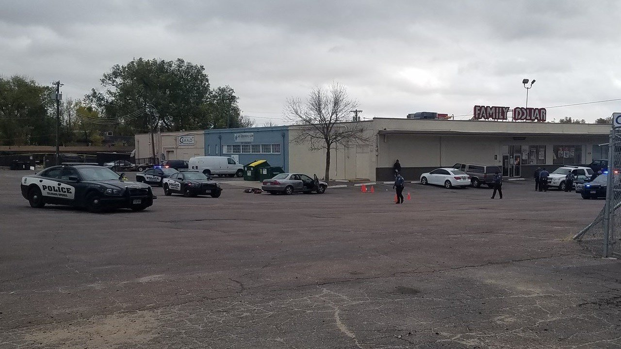 Colorado Springs PD investigates a double shooting on E. Boulder Street. (KOAA)